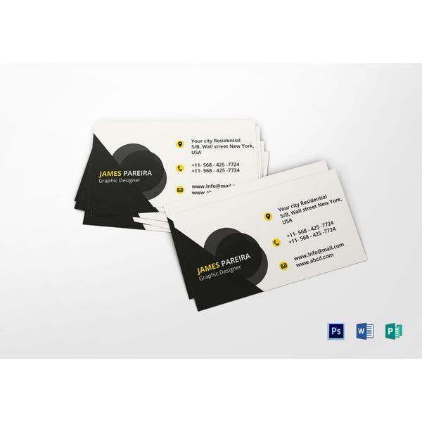 minimalist graphic designer business card template
