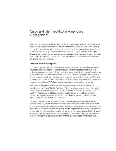 mobile warehouse management