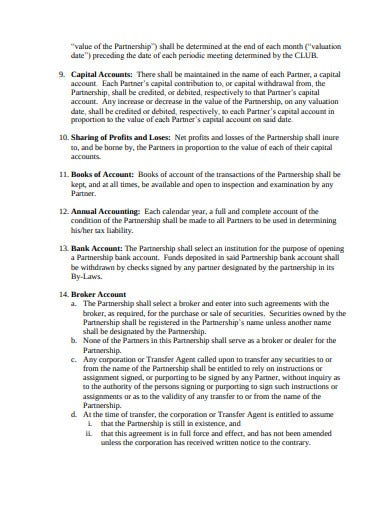 model investment club houston chapter agreement template