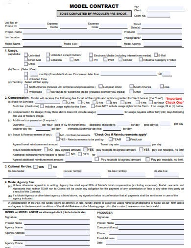 4 Modeling Agency Contract Templates In Doc Pdf Free Premium Templates