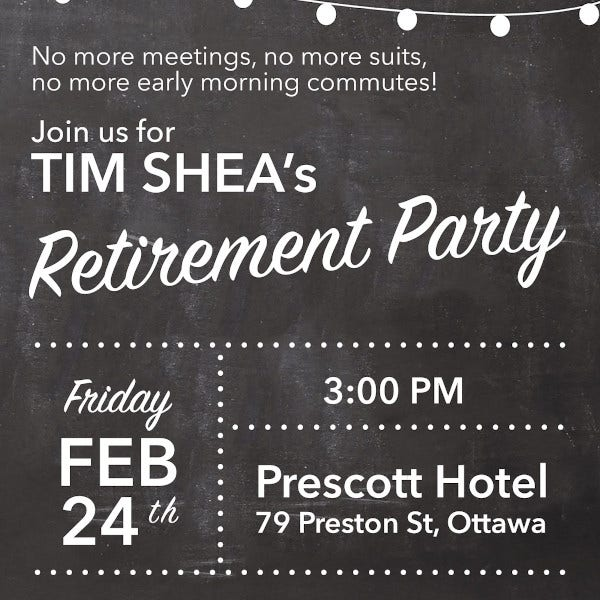 modern retirement party poster