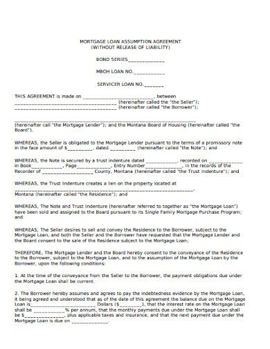 mortgage loan agreement template