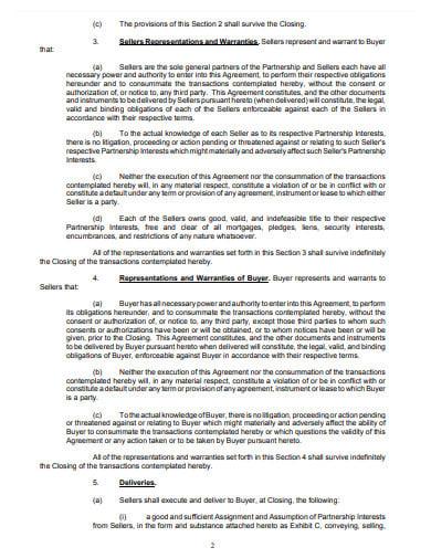 mortgage partnership interests buyout agreement