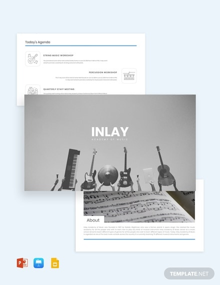 music event presentation template