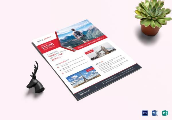 navigation travel flyer template