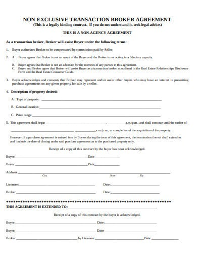 non exclusive agency agreement format