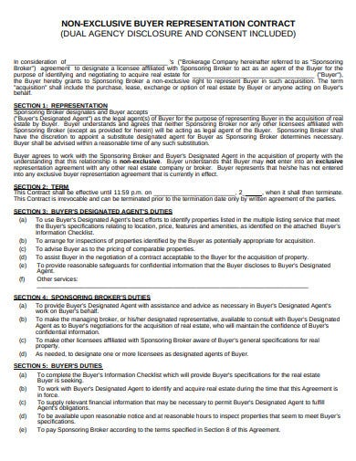 non exclusive agency contract agreement template