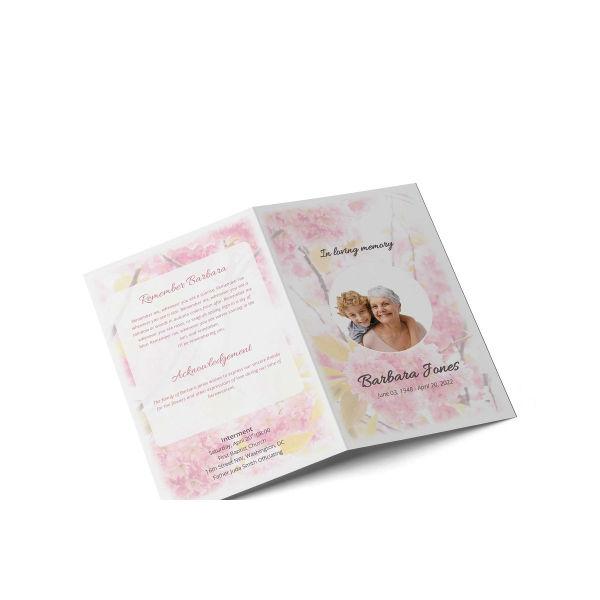 obituary program brochure template