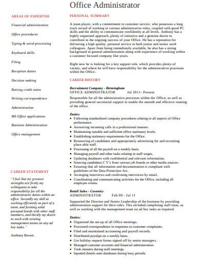 Office-Administrator-Resume-Template Office Administrator Resume Formats on description for, examples for, for medical, free templates, template download, objective samples, sample word,