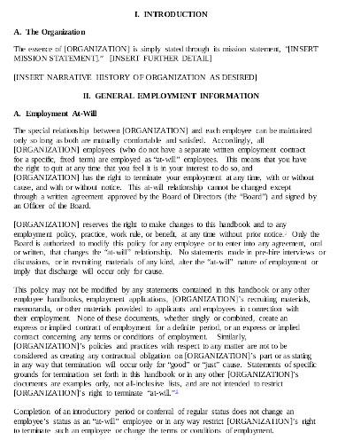 office employee handbook in pdf