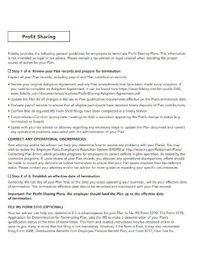 operational profit sharing plan