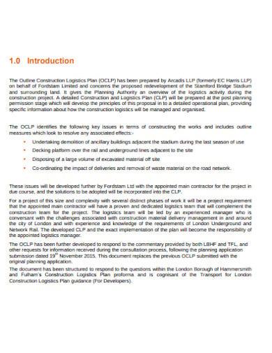 outline construction logistics plan template