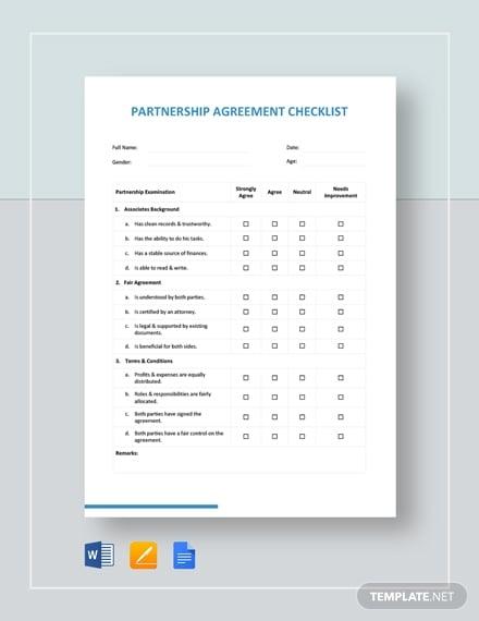 partnership agreement checklist1