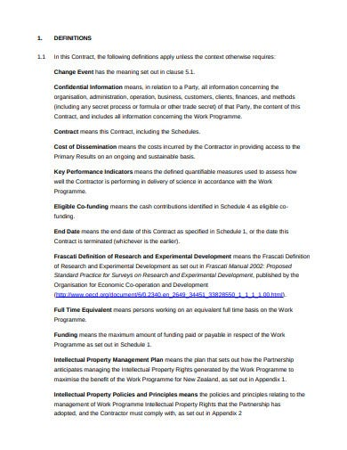 partnerships investment contract template