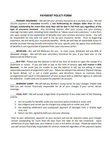 payment policy form in pdf