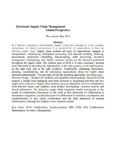 perspective supply chain management