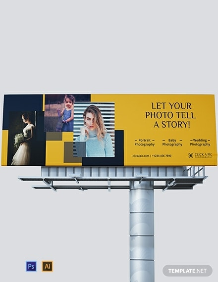 photography billboard template
