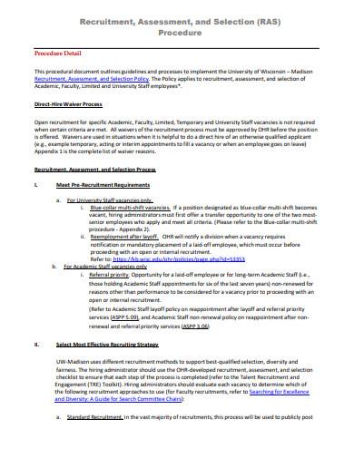 printable recruitment evaluation