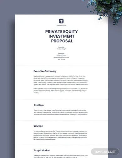 private equity investment proposal template2
