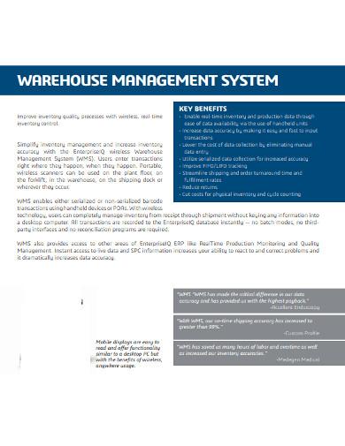 process warehouse management system
