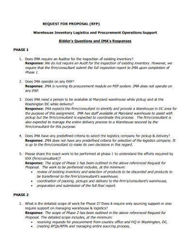 procurement and logistics proposal