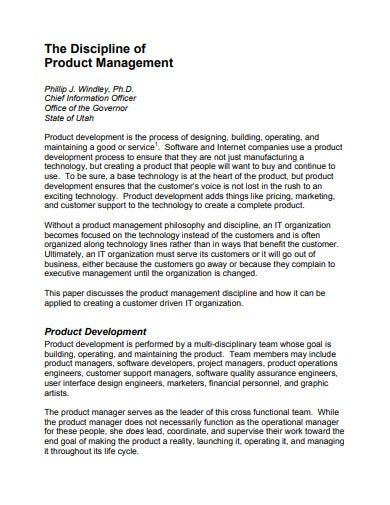 product management template