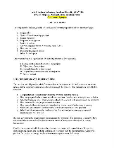 project proposal template un1