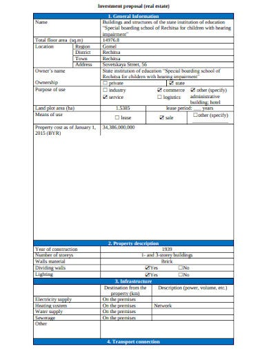 property building investment proposal template