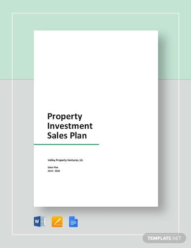 property investment sales plan