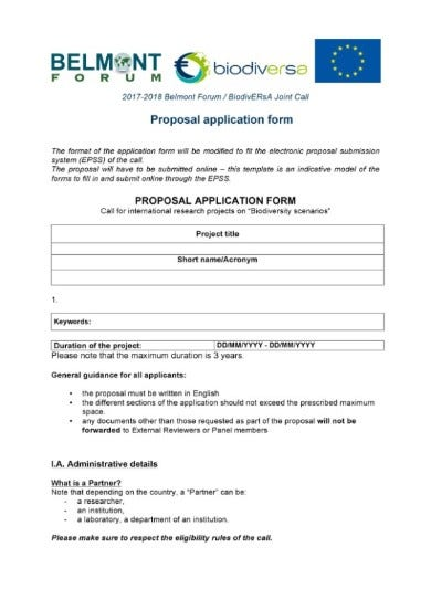 proposal application form