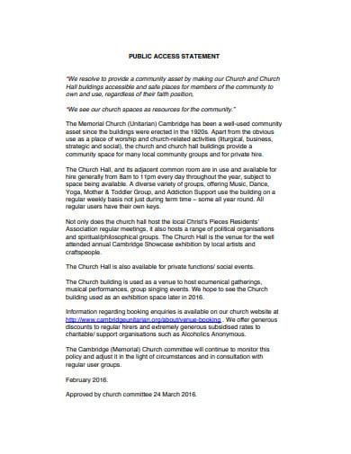public-access-statement