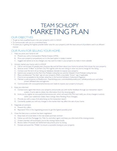 real estate agency marketing plan