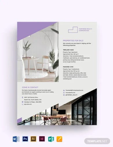 real estate agent agency promotional flyer template1