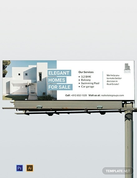 real estate billboard template