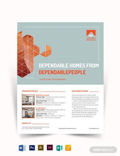 real estate broker promotional flyer template1