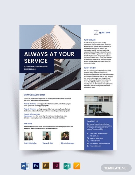 real estate company promotional flyer template