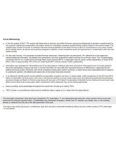 real estate industry compensation survey
