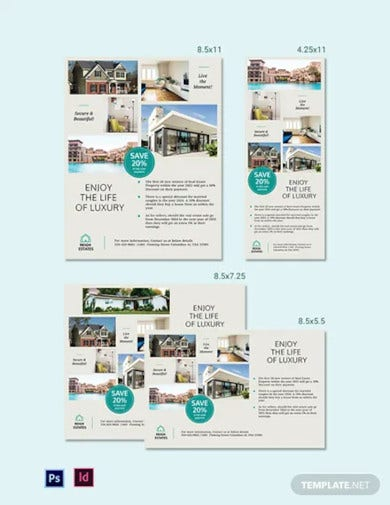 real estate magazine ads template