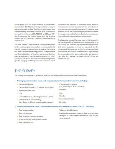 real estate partner compensation survey