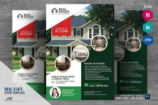 real estate promotional flyer