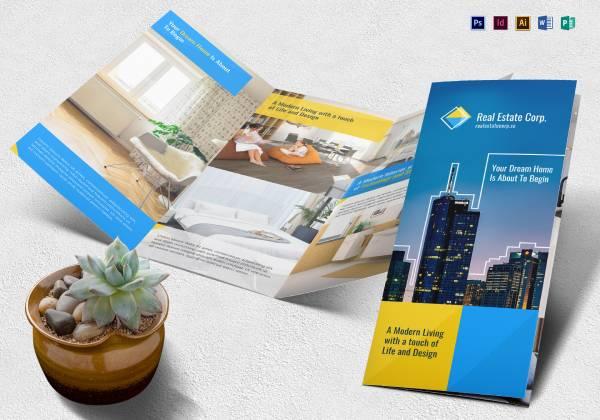 realestate brochure mockup complete