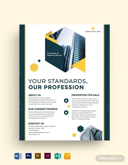 realestate company investor flyer template