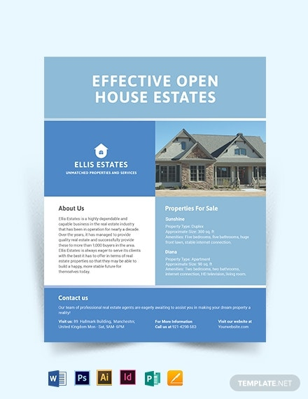realestate community flyer template