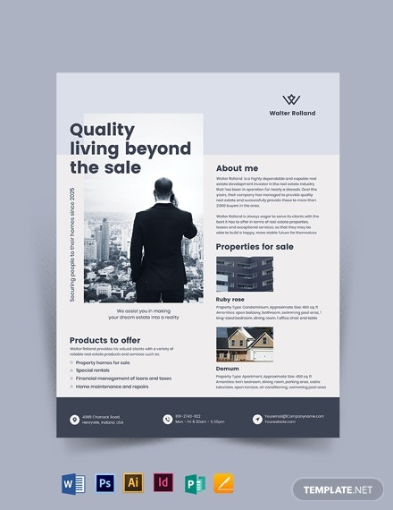 realestate development investor flyer template