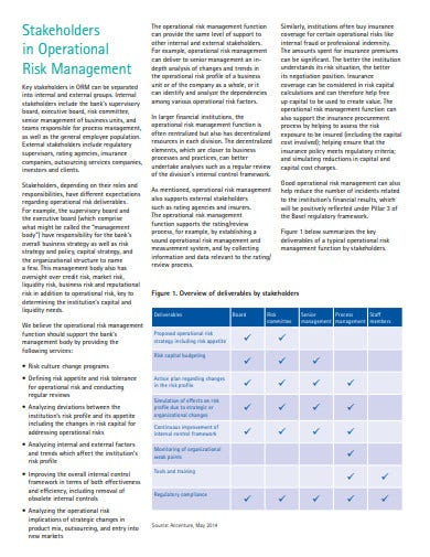 reaping the benefits of operational risk management
