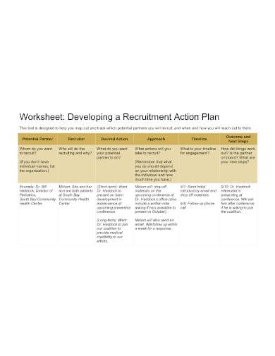 recruitment action plan template