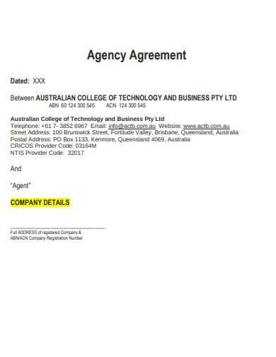recruitment agency agreement template