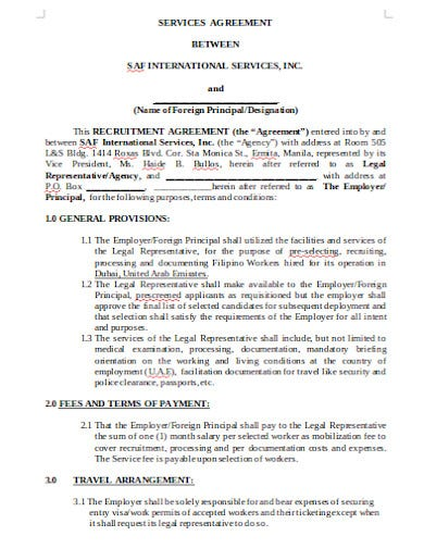 recruitment agency agreement in doc