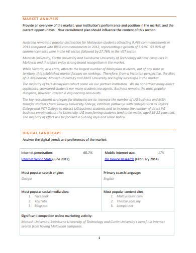 recruitment agency marketing plan template