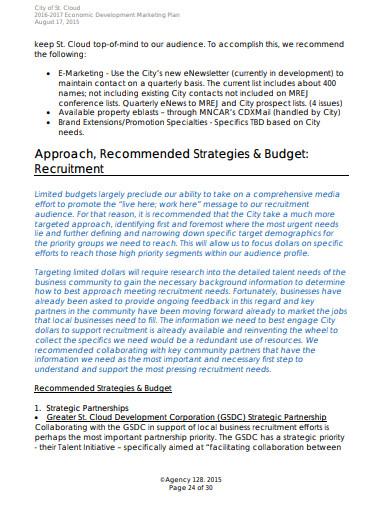 recruitment agency marketing plan in pdf